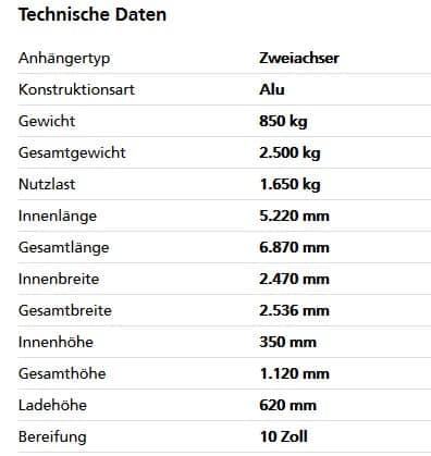 Humbaur HT 25 52 25 GR Tandem-Hochlader 1