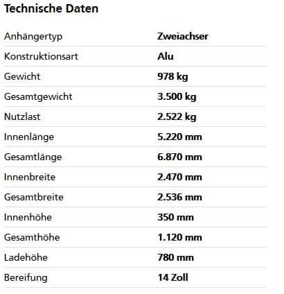 Humbaur HT 35 52 25 GR Tandem-Hochlader 1