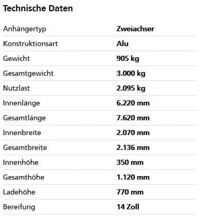 Humbaur HT 30 62 21 GR Tandem-Hochlader 1