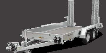 HS 253016 Tandemachser mit Stahl-Auffahrbohlen