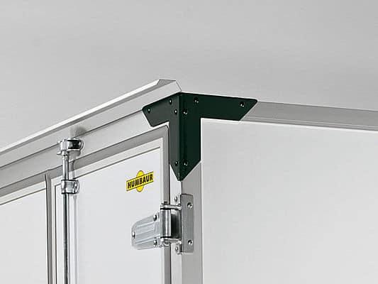 Humbaur HK 203015-18P / 253015-20P / Tandemachser Plywood, Räder a., Holzdach, Doppelflügeltüre hinten, Öffnungsmaße Tür 1400 x 1750 mm, 3 Paar Zurrpunkte 3