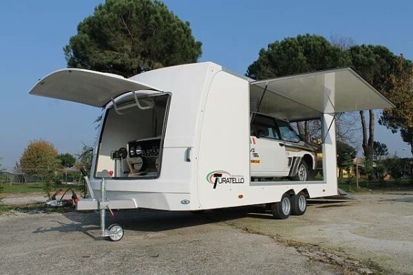 Turatello F20 Autotransporter, Motorsportanhänger, Fahrzeugtransporter, Rennwagenanhänger 1