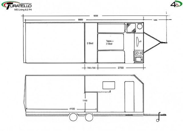 Turatello F35 Living Autotransporter inkl. Wohnbereich (8.2 P4) 3
