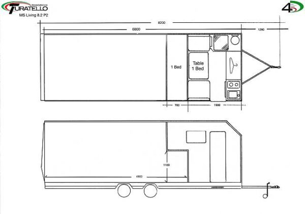 Turatello F35 XL Living Autotransporter inkl. Wohnbereich (8.2 P2) 4