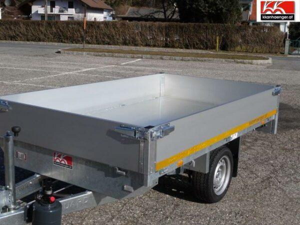 Rückwärtskipper Handpumpe Aluminium 2700 kg, 256 x 150 cm, Ladehöhe 72 cm, Handpumpe, gebremster Doppelachser 5