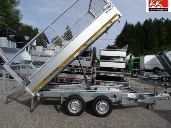 Rückwärtskipper Alu E-Pumpe 2700 kg, 310 x 160 cm, 72 cm Ladehöhe, gebremster Doppelachser 2