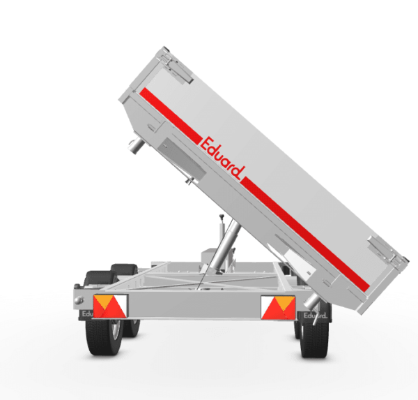 Eduard Dreiseitenkipper Alu, mit E-Pumpe 2700 kg, 330x180x30, Tandemachser 10