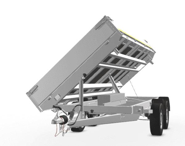 Eduard Dreiseitenkipper Alu, mit E-Pumpe 2700 kg, 330x180x30, Tandemachser 12