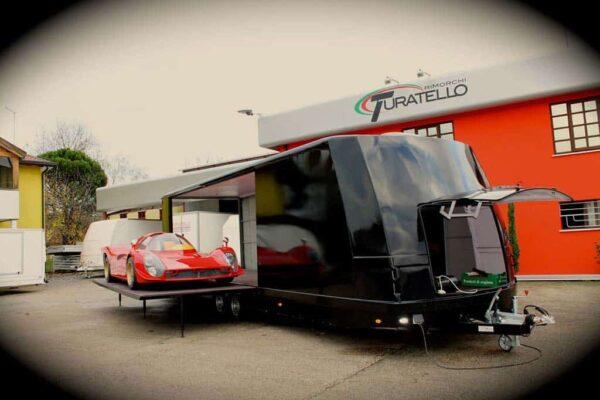 Turatello F35 Speciale mit Rampen, Autotransportanhänger, Promotionanhänger 17