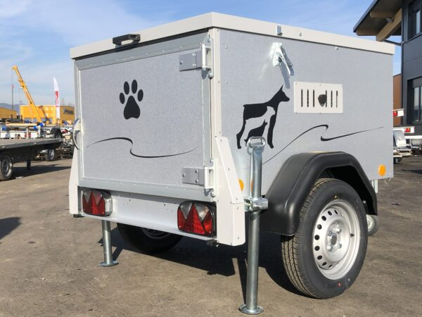 TPV Hundeanhänger, geschlossener Kastenanhänger, Einachser, leichter Anhänger, Anhänger für Hundetransport, für 2 oder 3 Hunde, Check Trailers 14