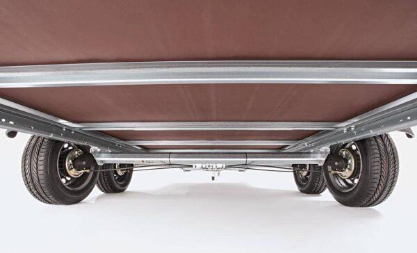 Humbaur Doppelachser, Kofferhänger Plywood GFK, mit Doppelflügeltüre hinten, Check Trailer 3