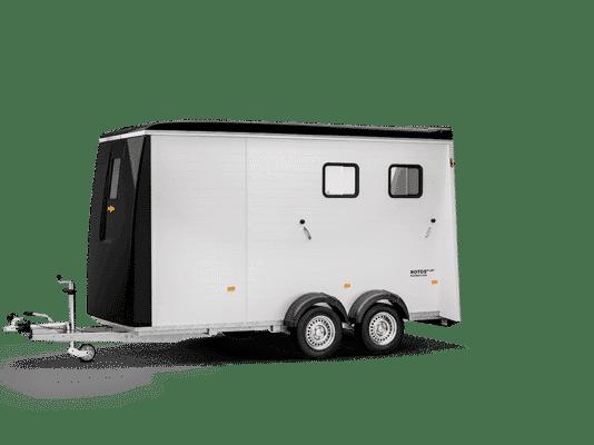 Messerückläufer, Humbaur Pferdeanhänger Notos Plus 3000, für 2 Pferde, mit Sattelkammer, Messe-Abverkauf, Sonderpreis 1