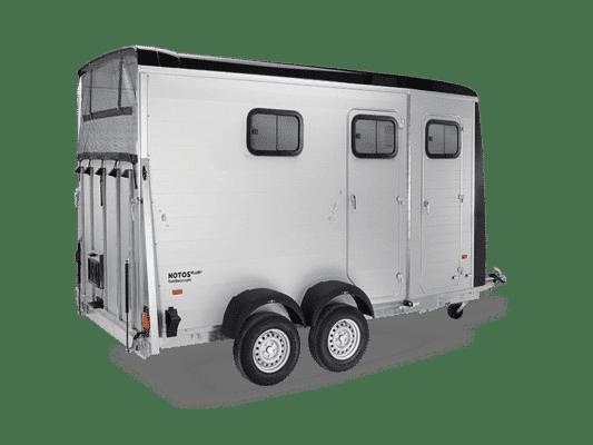Messerückläufer, Humbaur Pferdeanhänger Notos Plus 3000, für 2 Pferde, mit Sattelkammer, Messe-Abverkauf, Sonderpreis 3