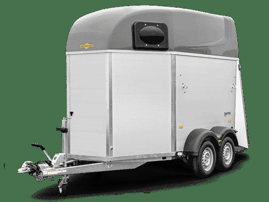 SONDERANGEBOT Humbaur Equitos Alu PLUS 2000, Pferdeanhänger, Check Trailer, Anhänger für 2 Pferde 1