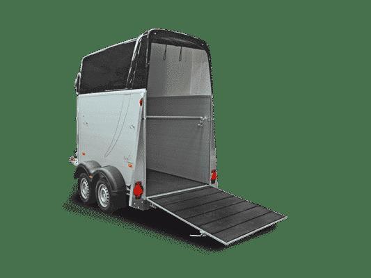Pferdeanhänger Check Humbaur 1600Single ALU SK Mit Alu Bicomp Boden und Gummimatte verklebt und versiegelt, Paniksystem ect. 6