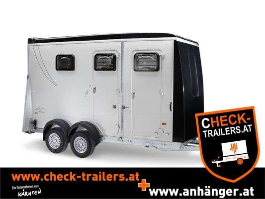 Pferdeanhänger CHECK Humbaur Notos Tria 3500 kg, Tandemanhänger, Pferdehänger für 2 Pferde 3