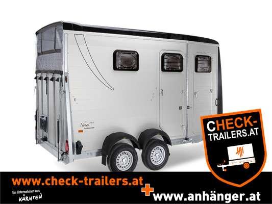 Pferdeanhänger CHECK Humbaur Notos Tria 3500 kg, Tandemanhänger, Pferdehänger für 2 Pferde 1