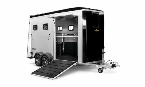 Humbaur Notos Xtra Pro, Pferdeanhänger, Pferdetransporter, Anhänger für Pferdetransport von bis zu 2 Pferden, Check Trailers 3