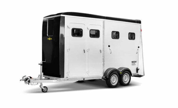 Humbaur Notos Xtra UP, Pferdeanhänger, Pferdetransporter, anhänger für Pferdetransport von bis zu 2 Pferden, Check Trailers 1
