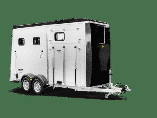Humbaur Notos Xtra Pro, Pferdeanhänger, Pferdetransporter, Anhänger für Pferdetransport von bis zu 2 Pferden, Check Trailers 1