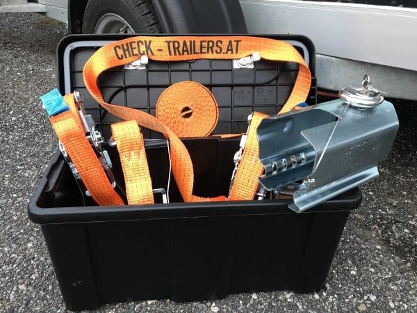 Das ultimative Männergeschenk, perfektes Weihnachtsgeschenk für Männer, mit Zurrgurten, Kastenschloss und Werkzeugbox für den Anhänger 1