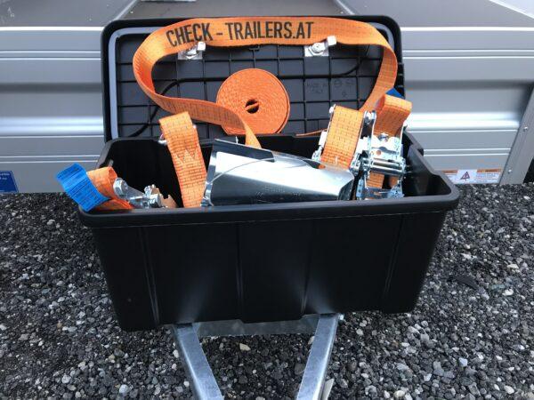 Das ultimative Männergeschenk, perfektes Weihnachtsgeschenk für Männer, mit Zurrgurten, Kastenschloss und Werkzeugbox für den Anhänger 4