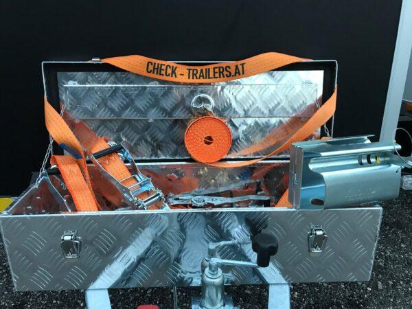 Das ultimative Männergeschenk, perfektes Weihnachtsgeschenk für Männer, mit Zurrgurten, Kastenschloss und Werkzeugbox für den Anhänger 7