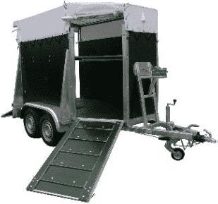 Viehanhänger von Geschützte Werkstätte, GW-Viehanhänger gebremst, Großviehanhänger GVT 285/160 GT, Viehtransporter, 2700 kg 1