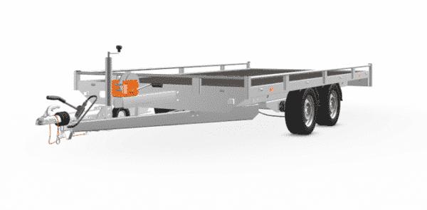 Eduard Fahrzeugtransporter, Hochlader mit Reling mit Seilwinde, 2000 kg, 406 x 200 cm, Transportanhänger, Doppelachser, gebremster Tandemachser, Allzweckanhänger 3