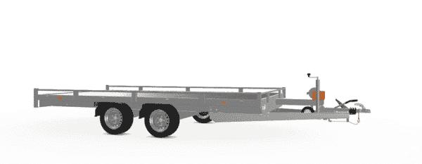 Eduard Fahrzeugtransporter, Hochlader mit Reling mit Seilwinde, 2000 kg, 406 x 200 cm, Transportanhänger, Doppelachser, gebremster Tandemachser, Allzweckanhänger 4