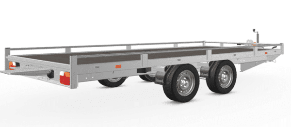 Eduard Fahrzeugtransporter, Hochlader mit Reling mit Seilwinde, 2000 kg, 406 x 200 cm, Transportanhänger, Doppelachser, gebremster Tandemachser, Allzweckanhänger 6