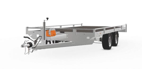 Anhänger Hochlader Autotransporter Eduard 406 x 200 Doppelachs mit Reling Gewicht 3500 kg gebremst inkl. Rampen und Rampenschacht sowie Seilwinde, weitere Varianten 8