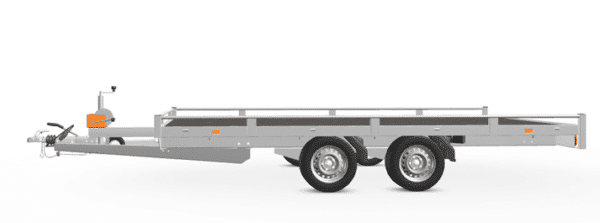 Eduard Fahrzeugtransporter, Hochlader mit Reling mit Seilwinde, 2000 kg, 406 x 200 cm, Transportanhänger, Doppelachser, gebremster Tandemachser, Allzweckanhänger 1
