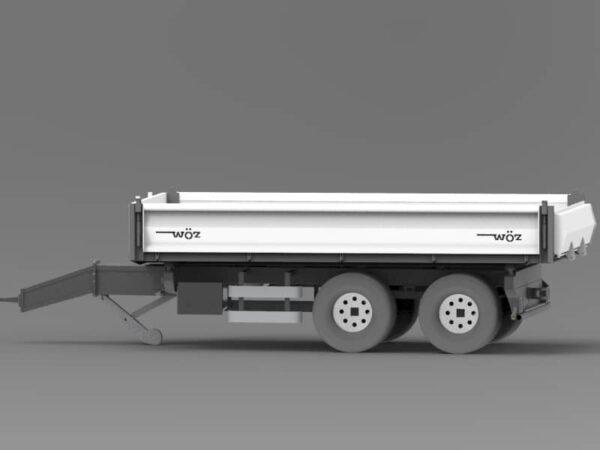 Traktoranhänger, WÖZ Anhänger, Bau-Line, starker Doppelachs-Dreiseitenkipper, 3S-Kipper, Tandemachser, diverse Modelle: B130 und B160, Zweiachser, Kipper, Kippanhänger für Traktoren 5