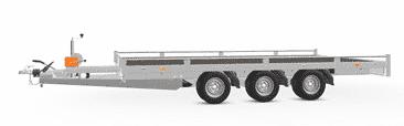 Anhänger Hochlader Autotransporter Eduard 406 x 200 Doppelachs mit Reling Gewicht 3500 kg gebremst inkl. Rampen und Rampenschacht sowie Seilwinde, weitere Varianten 12