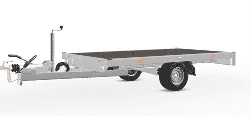 Hochlader 256x150 cm Eduard, Allzwecktransporter, 750kg, ungebremster Einachser 1