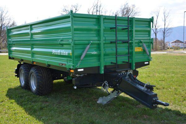 Traktoranhänger, WÖZ Anhänger, A150, 15000 kg, starker Tandem-Dreiseitenkipper, 3S-Kipper, Zweiachser, Kipper, Kippanhänger für Traktoren 3