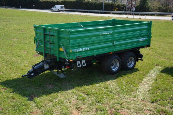 Traktoranhänger, WÖZ Anhänger, A150, 15000 kg, starker Tandem-Dreiseitenkipper, 3S-Kipper, Zweiachser, Kipper, Kippanhänger für Traktoren 6