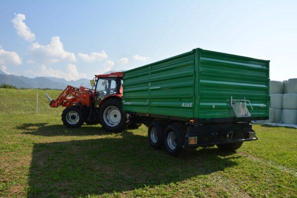 Traktoranhänger, WÖZ Anhänger, A150, 15000 kg, starker Tandem-Dreiseitenkipper, 3S-Kipper, Zweiachser, Kipper, Kippanhänger für Traktoren 9