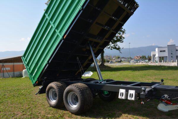 Traktoranhänger, WÖZ Anhänger, A150, 15000 kg, starker Tandem-Dreiseitenkipper, 3S-Kipper, Zweiachser, Kipper, Kippanhänger für Traktoren 10