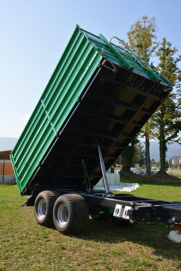 Traktoranhänger, WÖZ Anhänger, A150, 15000 kg, starker Tandem-Dreiseitenkipper, 3S-Kipper, Zweiachser, Kipper, Kippanhänger für Traktoren 11
