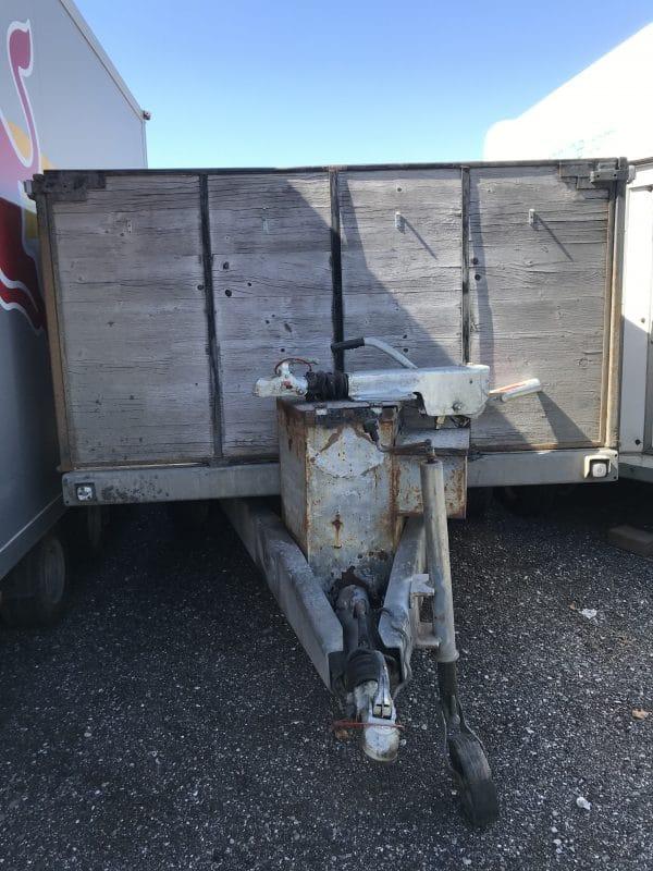 Gebrauchter Eigenbau-Anhänger, offener Kastenanhänger mit hohen Bordwänden, Doppelachser, 3500 kg Gesamtgewicht 4