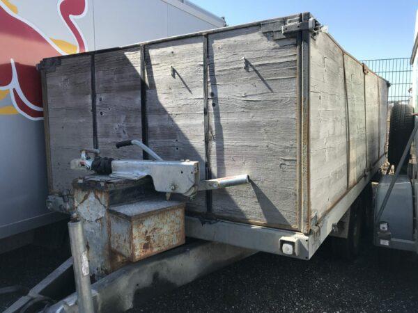 Gebrauchter Eigenbau-Anhänger, offener Kastenanhänger mit hohen Bordwänden, Doppelachser, 3500 kg Gesamtgewicht 5
