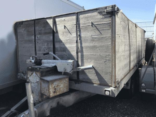 Gebrauchter Eigenbau-Anhänger, offener Kastenanhänger mit hohen Bordwänden, Doppelachser, 3500 kg Gesamtgewicht 1