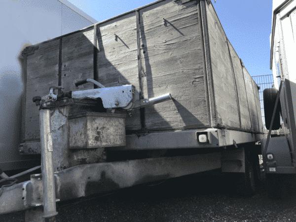 Gebrauchter Eigenbau-Anhänger, offener Kastenanhänger mit hohen Bordwänden, Doppelachser, 3500 kg Gesamtgewicht 10