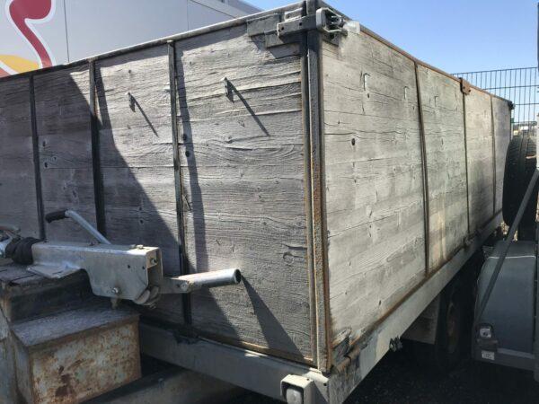 Gebrauchter Eigenbau-Anhänger, offener Kastenanhänger mit hohen Bordwänden, Doppelachser, 3500 kg Gesamtgewicht 7