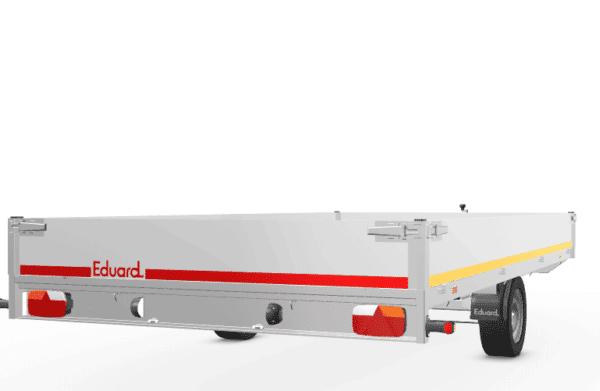 Neues Modell: Eduard gebremster Einachser, 406 x 220 cm, 1800 kg Gesamtgewicht, Hochlader, Allzweckanhänger, Kastenanhänger, Einachser, gebremst 3