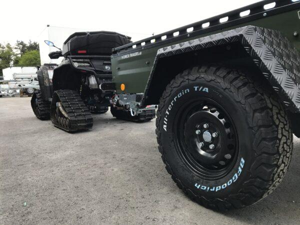 !Spezial-Offroad-Anhänger! TPV EB3 Kastenanhänger, 1300 kg Gesamtgewicht, gebremst, Anhänger für Quads, Offroad-Fahrzeuge und mehr 19