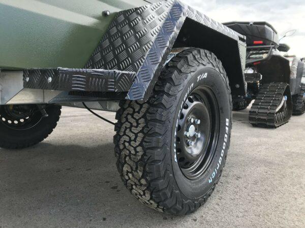 !Spezial-Offroad-Anhänger! TPV EB3 Kastenanhänger, 1300 kg Gesamtgewicht, gebremst, Anhänger für Quads, Offroad-Fahrzeuge und mehr 14
