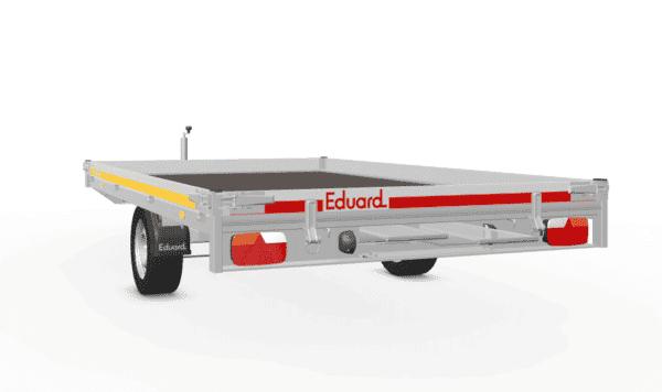 Motorradanhänger von Eduard, Transporter für bis zu 3 Motorräder, 311x200 cm, 10 cm Bordwände, 1800 kg Gesamtgewicht, gebremster Einachser, mit Auffahrrampen 3